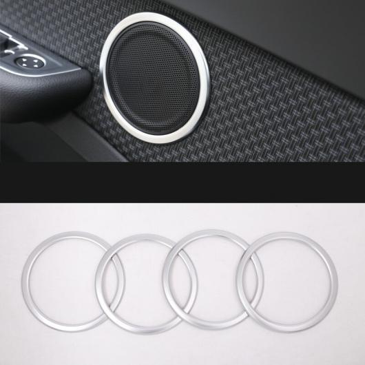 AL ABS クローム ドア スピーカー リング オーディオ 装飾 インテリア 適用: BMW X1 F48 2016-2018 4ピース AL-EE-7674