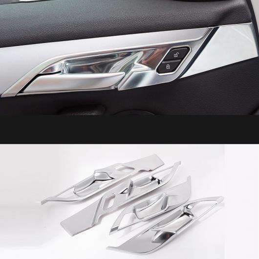 AL ABS クローム 装飾 インテリア ドア ハンドル フレーム スパンコール ステッカー 適用: BMW X1 F48 2016-2018 4ピース AL-EE-7684