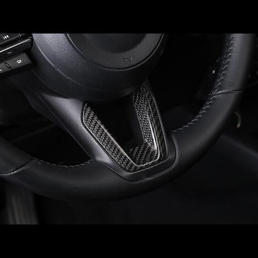 AL カーボンファイバー 適用: マツダ CX-3 CX3 2015 2016 2017 ステアリング ホイール トリム スパンコール ギア シフト ノブ カバー ハンドル スタイル 1 AL-EE-7749
