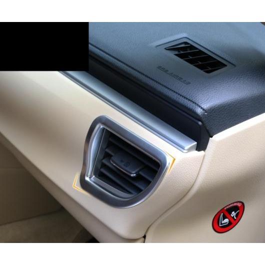 AL ダッシュボード 吹き出し口 ボックス ABS クローム 装飾 フレーム インテリア 適用: トヨタ カローラ 2014-18 スタイル 2 AL-EE-7838
