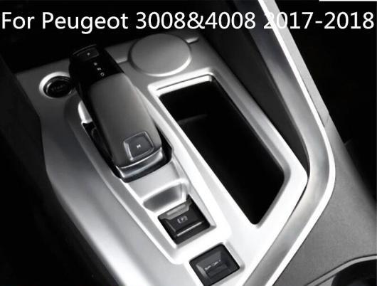 AL 適用: プジョー 3008 & 4008 2017-18 ABS クローム シフト ギア ボックス カバー パネル トリム 1ピース ロー シルバー・ハイ シルバー AL-EE-7479