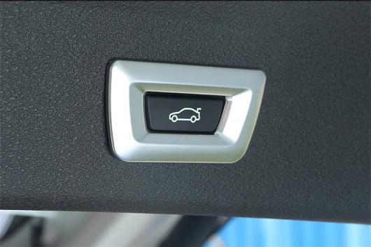 AL ABS クローム 自動車 テールゲート ボタン フレーム 装飾 スパンコール アクセサリー 適用: BMW X1 F48 2016-2018 1 キー・2 キー AL-EE-7683