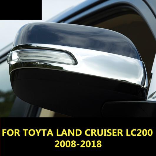 AL バックミラー ミラー カバー スパンコール 装飾 ステッカー 適用: トヨタ ランドクルーザー LC200 2008-2018 ブルー・シルバー AL-EE-7738