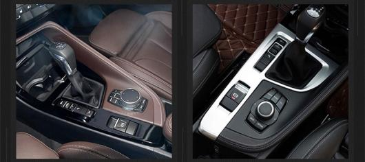 AL ギア カバー 装飾 プレート パネル インテリア アクセサリー 適用: BMW X1 F48 2016-2018 ABS クローム・カーボンファイバー AL-EE-7760