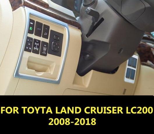 AL 適用: トヨタ ランドクルーザー LC200 2008-2018 アルミニウム 合金 セントラル コントロール ボタン 装飾 フレーム トリム インテリア AL-EE-6986