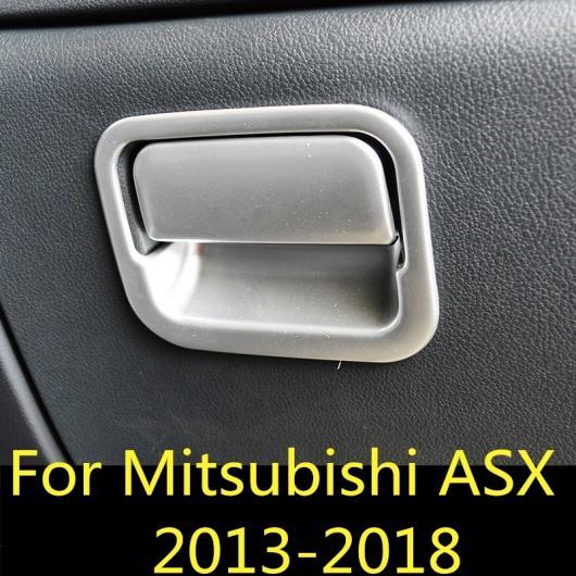 AL 適用: 三菱 ASX 2013-2018 助手席 ストレージ ボックス ハンドル ボウル カバー プロテクター トリム ステッカー クローム AL-EE-7330