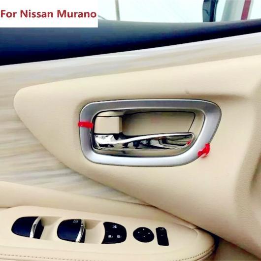 AL 適用: 日産 ムラーノ 2015 2016 4ピース マット クローム インテリア ドア ハンドル ボウル カップ カバー モールディング トリム 装飾 AL-EE-7600