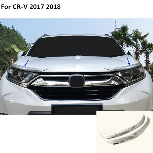 AL カバー ヘッド フロント ライト アイブロー ヘッドランプ ボンネット ガード フレーム 2ピース/セット 適用: ホンダ CRV CR-V 2017 2018 AL-EE-7626