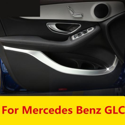 AL カーボンファイバー インサイド ウインドウ トリム ドア パネル ストリップ カバー インナー エッジ ステッカー 装飾 適用: メルセデス ベンツ GLC AL-EE-7751