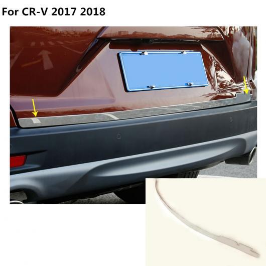 AL ボディ カバー ステンレス スチール リア ドア ボトム テールゲート フレーム プレート トリム ランプ バンパー 適用: ホンダ CRV CR-V 2017 2018 AL-EE-7885