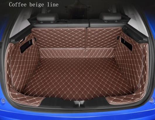 AL 全周囲 適用: ジーリー 全モデル Emgrand EC7 X7 FE1 自動車 スタイリング ブーツ マット トランク マット フロア カーペット ブラック ホワイトライン~ブラウン ゴールド糸 AL-EE-8287