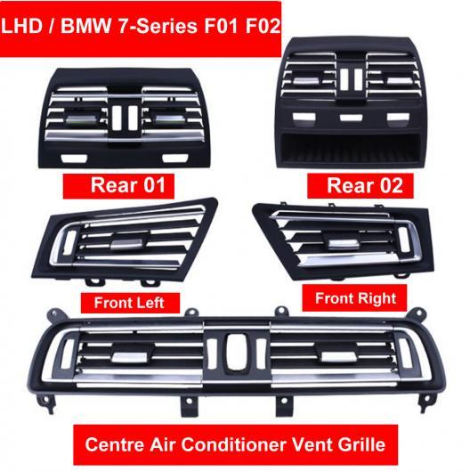 AL LHD フロント ウィンド 左/センター/右/リア エアコン 吹き出し口 グリル パネル クローム プレート 適用: BMW 7シリーズ F01 F02 730 735 740 センター~リア ハイ バージョン AL-EE-8604