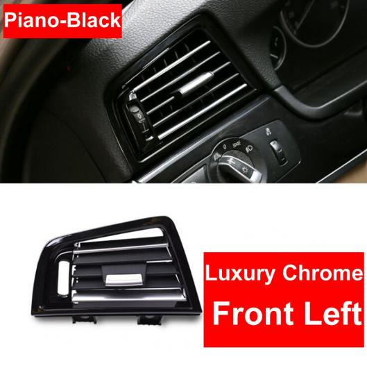AL LHD 左ハンドル車 ピアノブラック フロント 左 ウィンド エアコン 吹き出し口 グリル パネル クローム プレート 適用: BMW 5シリーズ F10 F18 ピアノブラック 左・ピアノブラック 右 AL-EE-8610
