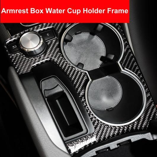 AL カーボンファイバー アームレスト ボックス カップホルダー パネル カバー トリム 保護 ステッカー 適用: メルセデス ベンツ GLK 2008-2015 アクセサリー ドイツ スタイル・クラシカル スタイル AL-EE-8913