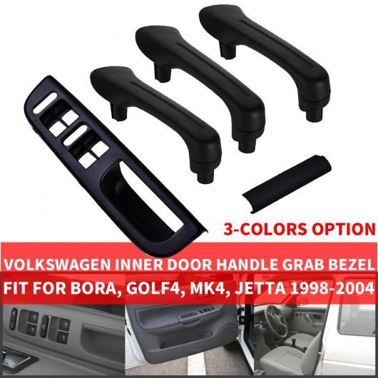 AL 左ハンドル車 インテリア インナー ドア プル ハンドル トリム カバー 適用: フォルクスワーゲン ボーラ ゴルフ4 MK4 ジェッタ フロント リア 左 右 ベージュ 5ピース セット~グレー 5ピース セット AL-EE-9114