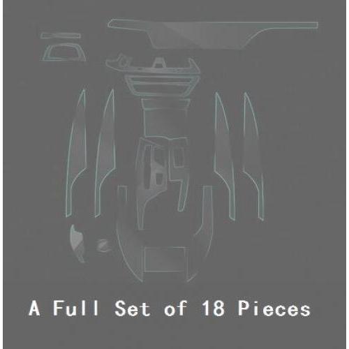 AL インテリア トリム ダッシュボード CD パネル クリア ペイント 保護 BRA フィルム ステッカー 適用: BMW 5シリーズ 525I 530I 540I G30 G31 2018 フル セット 18ピース AL-EE-8895