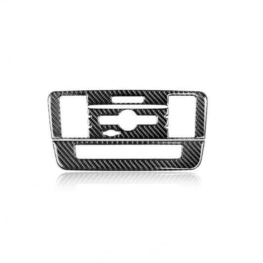 AL カーボンファイバー インテリア CD エアコン コントロール パネル カバー トリム ステッカー 適用: メルセデス ベンツ A/B クラス CLA GLA 13-18 クラシカル スタイル AL-EE-8914