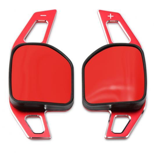 AL ホイール DSG パドル エクステンション シフター シフト ステッカー 装飾 適用: アウディ A3 S3 A4 S4 A5 S5 A6 S6 S6 A8 R8 Q3 Q5 SQ5 Q7 RS6 RS7 レッド AL-EE-9367