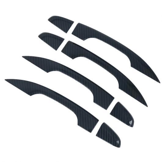 AL 適用: ホンダ アコード 2018 10代目 ABS クローム カーボンファイバー エクステリア アウター ドア ハンドル カバー 保護 フレーム ステッカー ホールなし AL-FF-0972