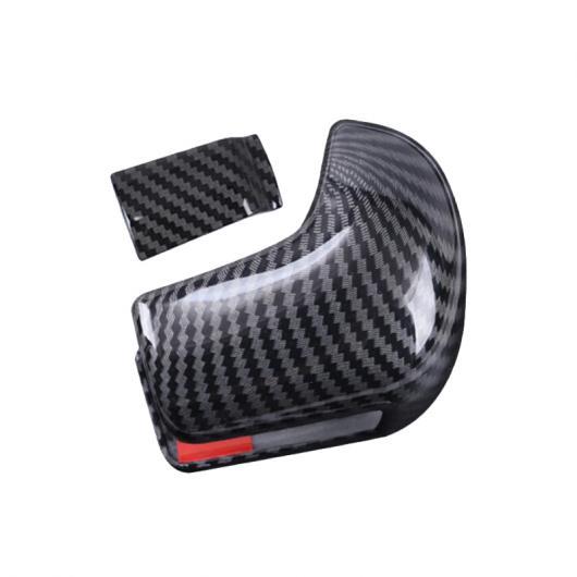 AL 適用: ホンダ シビック 10代目 2016 2017 左ハンドル ABS カーボンファイバー スピード ギア シフト ノブ カバー ヘッド ステッカー トリム 2ピース AL-FF-0984