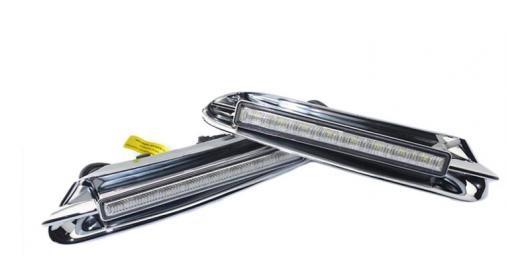 AL ヘッドライト 適用: ビュイック アンコール オペル モッカ 2012 2013 2014 2015 DRL ホワイト LED デイタイム ランニング ライト 2ピース ホワイト AL-FF-2351
