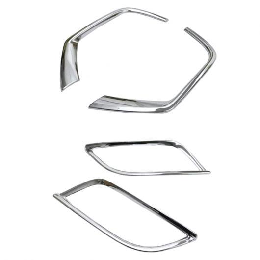 AL 適用: ジープ コンパス 2017 2018 ABS クローム フロント + リア フォグライト ランプ カバー トリム ガーニッシュ 装飾 4ピース Aセット AL-FF-1124