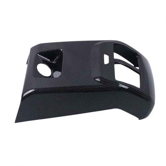 AL 適用: フォード フォーカス セダン/ハッチバック 2019 インテリア マット/カーボンファイバー ABS リア エア ベント パネル カバー 1ピース 保護 トリム カーボンファイバー スタイル AL-FF-1181