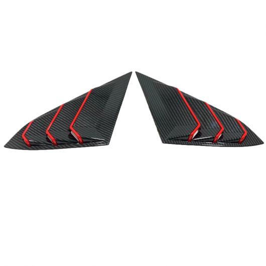 AL 適用: ホンダ シビック 10代目 2016-2019 カーボンファイバー スタイル ABS リア ウインドウ ハンドル トライアングル ボウル カバー アクセサリー 2ピース タイプ001 AL-FF-1211