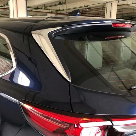 AL 適用: マツダ CX-9 CX9 2017 2018 2019 ボディ スタイリング リア テール スポイラー サイド トライアングル モールディング ウインドウ ベゼル トリム ステッカー カバー 2ピース タイプ001 AL-FF-1227