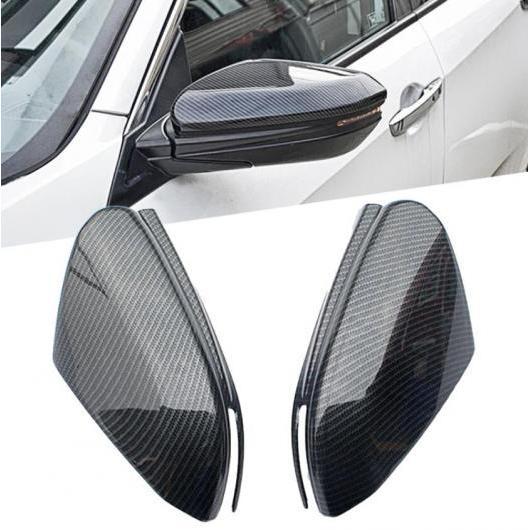 AL 4ピース ABS カーボンファイバー エクステリア フロント フォグライト ランプ トリム 適用: ホンダ シビック 10代目 2016 2017 タイプ004 AL-FF-1395