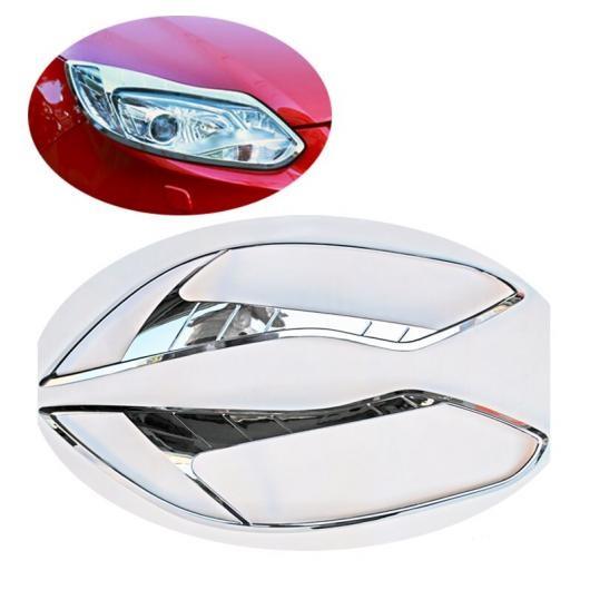 AL 適用: フォード フォーカス 3 2012 2013 ABS クローム フロント ヘッド ライト ランプ ヘッドライト カバー トリム フレーム 2ピース アクセサリー AL-FF-1178