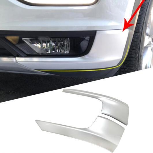 AL 2ピース エクステリア ABS マット フロント サイド バンパー プロテクター ガード カバー トリム ステッカー 適用: VW フォルクスワーゲン T-ROC 2017 2018 AL-FF-1342