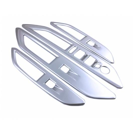 AL 4ピース ドア パネル アームレスト カバー トリム インナー ウインドウ リフト レギュレーター ABS カーボンファイバー 適用: プジョー 3008 GT 2017 2018 LHD タイプ001 AL-FF-1426