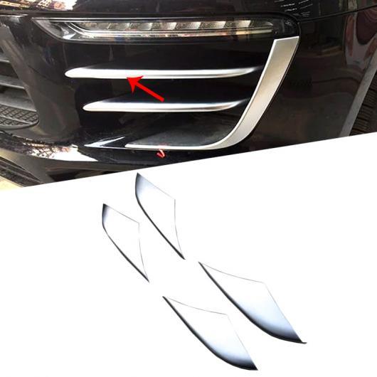 AL シルバー ABS クローム リア テール ライト ランプ カバー トリム フレーム 4ピース 適用: ポルシェ マカン 2014 2015 2016 2017 4ピース AL-FF-1530