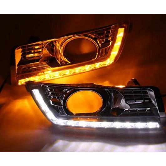 AL 12V LED DRL デイタイム ランニング ライト 適用: キャデラック SRX 2016 2015 2014 2013 2012 デイライト フォグランプ イエロー ターンシグナル スタイル リレー タイプ001 AL-FF-1580
