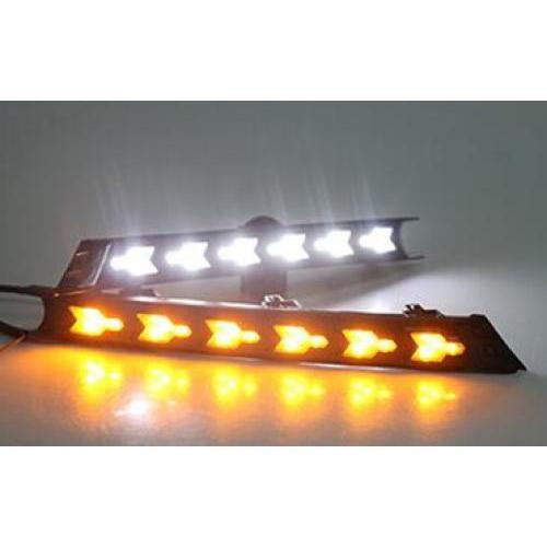 AL ターンシグナル スタイル リレー 防水 12V LED DRL デイタイム ランニング ライト フォグランプ 適用: マツダ CX-5 CX5 CX 5 2017 ホワイト イエロー AL-FF-1592