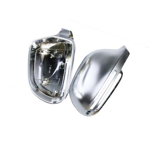 AL 1 ペア ABS マット クローム ミラー ケース バックミラー カバー シェル 適用: アウディ A4 2008-2012 A5 2008--2009 A8 2004-2008 Q3 B8 サイドアシストなし AL-FF-1572
