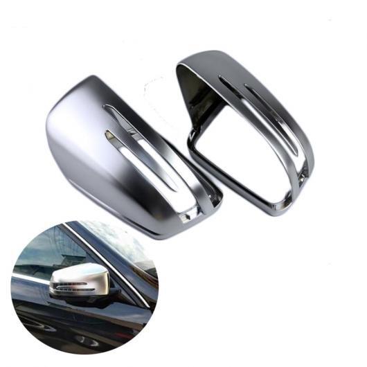 AL 1 ペア ABS マット バックミラー ミラー リア サイド カバー 適用: ベンツ W176 W246 W204 W212 W221 CLA C117 GLA X156 GLK X204 CLS W218 AL-FF-1573
