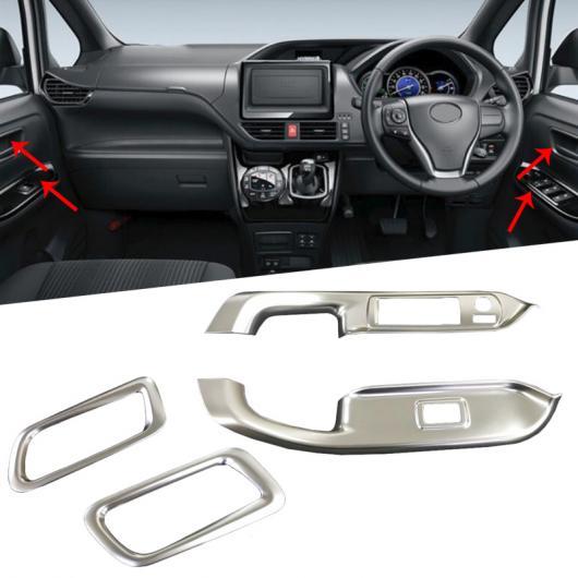 AL ABS クローム インテリア ドア ハンドル ベゼル ガーニッシュ トリム カバー アクセサリー 適用: トヨタ ヴォクシー R80 2017 2018 フェイスリフト タイプ004 AL-FF-1629