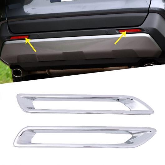 AL ABS クロームメッキ フロント フォグランプ ライト 装飾 フレーム カバー トリム 適用: トヨタ RAV4 2019 2020 リア フォグライト カバー AL-FF-1670