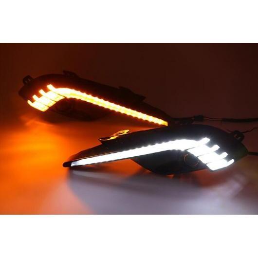 AL DRL 12V LED デイタイム ランニング ライト 適用: マツダ 3 2017 2018 イエロー ターン シグナル リレー 防水 フォグランプ ホール タイプ001 AL-FF-1702
