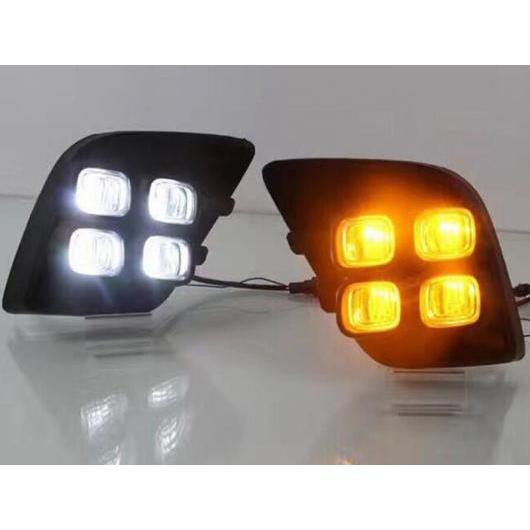AL LED DRL デイタイム ランニング ライト デイライト フォグランプ 装飾 シグナル 適用: トヨタ ハイラックス レボ ヴィーゴ 2015 2016 タイプ002 AL-FF-1706