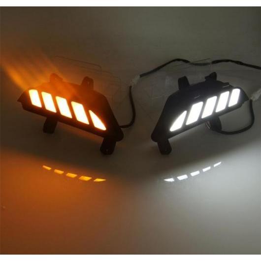 AL LED デイタイム ランニング ライト フォグランプ 装飾 適用: マツダ 3 2014 2015 2016 フロー ターンシグナル リレー 防水 DRL 12V タイプ001 AL-FF-1716