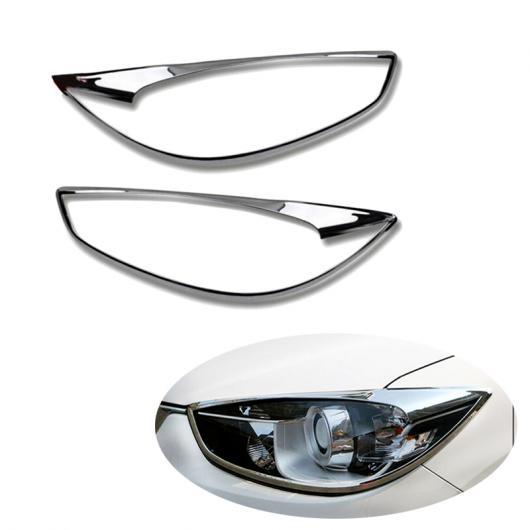 AL ABS クローム 適用: マツダ CX-5 CX5 2015 フロント ヘッドライト ヘッド ライト ランプ フレーム トリム カバー ステッカー AL-FF-1621