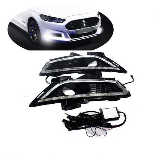 AL LED DRL デイライト 適用: フォード モンデオ フュージョン 2013 2014 2015 2016 デイタイム ランニング ライト 防水 フォグランプ AL-FF-1708