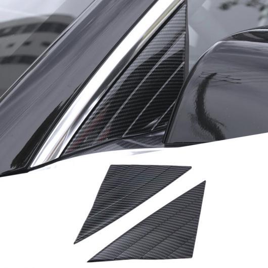 AL カーボンファイバー スタイル フロント ドア トライアングル カバー ウインドウ トリム エクステリア 適用: テスラ モデル 3 2018 2019 フロント AL-FF-1841