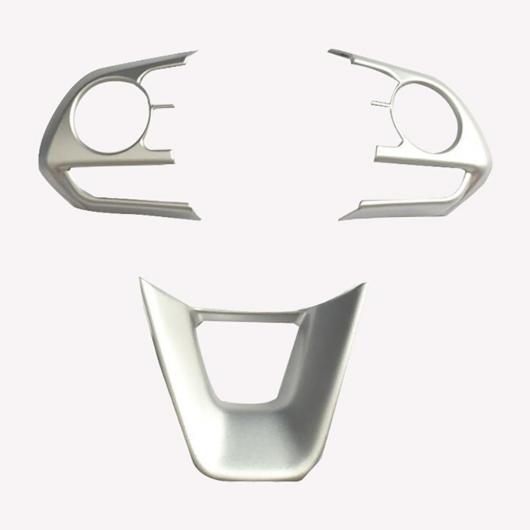 AL ステアリング ホイール カバー ステッカー ABS クローム トリム アクセサリー 適用: トヨタ セダン カローラ E210 プレステージ アルティス 2019 2020 3ピース マット シルバー AL-FF-3499
