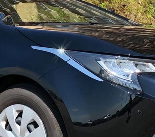 AL 適用: トヨタ カローラ 2019 2020 ハッチバック ABS クローム フロント ヘッド ライト ランプ カバー トリム ヘッドライト アイブロー ストリップ アクセサリー AL-FF-3471