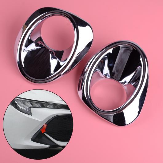 AL 1 ペア ABS クローム フロント バンパー グリッド フォグライト ランプ カバー トリム ベゼル スタイリング 適用: トヨタ カローラ ハッチバック 2019 2020 AL-FF-3527