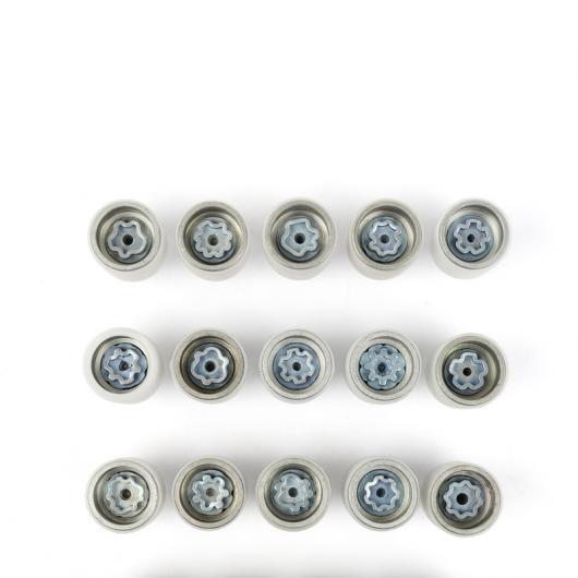 期間限定特別価格 AL 亜鉛 合金 ホイール バルブ スクリュー カバー 適用: アウディ Q5 A4 A3 A6 Q3 Q5 Q7 A5 A7 20 ピース AL-FF-3917, 4U clothing カジュアル&ブランド 5635194e